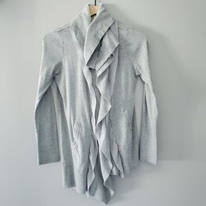 COMME TOI GRAY ZIP UP CARDIGAN